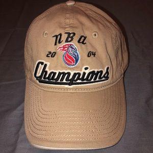 Other - 2004 Detroit Pistons NBA championship hat